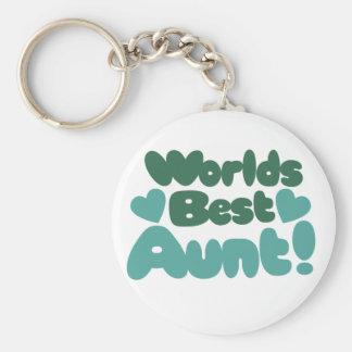 Worlds Best Aunt Basic Round Button Keychain
