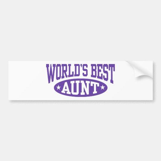 World's Best Aunt Bumper Sticker