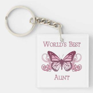 World's Best Aunt (Butterfly) Keychain