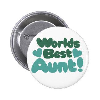 Worlds Best Aunt Button