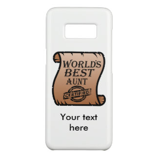 World's Best Aunt Certified Certificate Funny Case-Mate Samsung Galaxy S8 Case