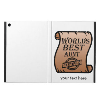 World's Best Aunt Certified Certificate Funny Cover For iPad Air