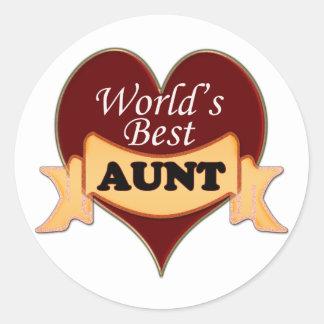 World's Best Aunt Classic Round Sticker