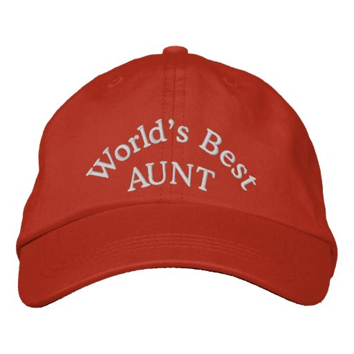 World's Best Aunt Embroidered Baseball Cap/Hat Embroidered Baseball Hat