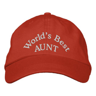 World's Best Aunt Embroidered Baseball Cap/Hat