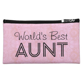 World's Best AUNT Family Appreciation Bag PINK
