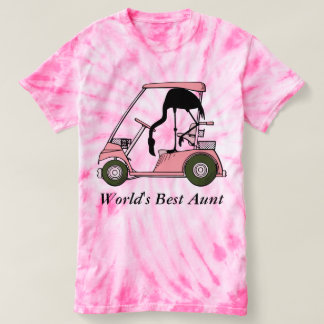 World's Best Aunt Funny Flamingo Golf T-shirt