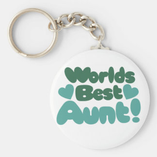 Worlds Best Aunt Keychain