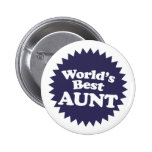 World's Best Aunt Pin