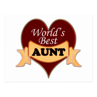 World's Best Aunt Postcard