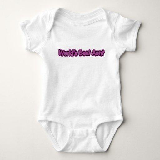 World's Best Aunt (Purple) T Shirts