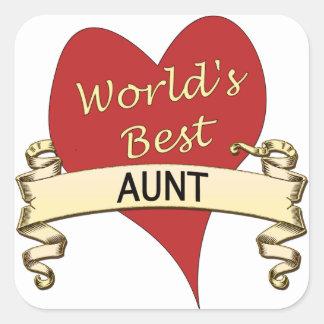 World's Best Aunt Square Sticker
