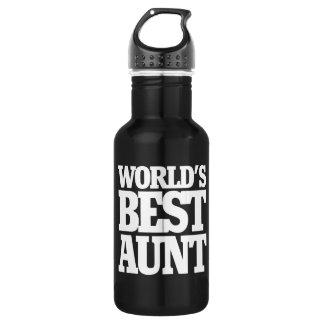 World's Best Aunt Stainless Steel Water Bottle