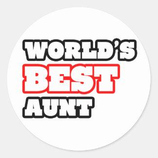 World's Best Aunt Round Stickers