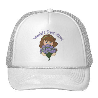 World's Best Aunt Tees and Gifts Mesh Hats