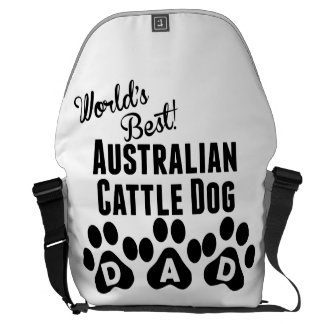 World's Best Australian Cattle Dog Dad Messenger Bag