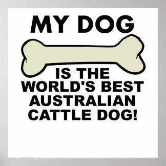 World's Best Australian Cattle Dog Poster