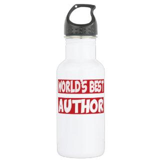 World's best Author. Water Bottle