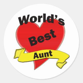 World's Best Autn Classic Round Sticker