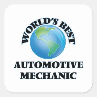 World's Best Automotive Mechanic Square Sticker