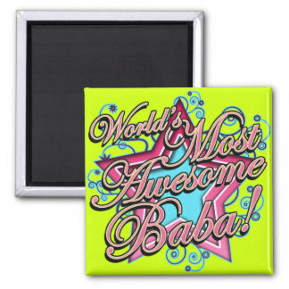 Worlds Best Baba 2 Inch Square Magnet