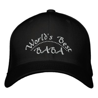 World's Best BABA Embroidered Hats