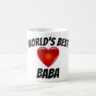World's Best Baba Heart Mug