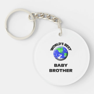 World's Best Baby Brother Single-Sided Round Acrylic Keychain