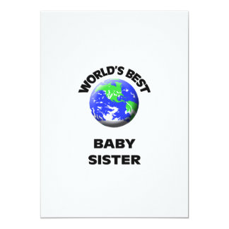 World's Best Baby Sister 5x7 Paper Invitation Card