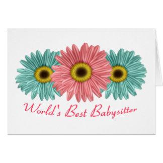 World's Best Babysitter Card