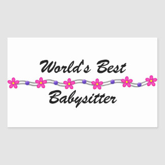 World's Best Babysitter (customizable) Rectangular Sticker
