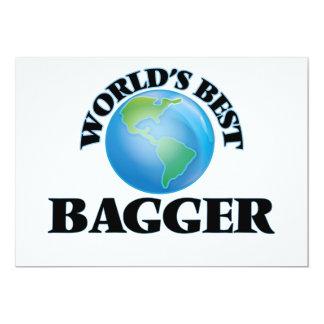 World's Best Bagger 5x7 Paper Invitation Card