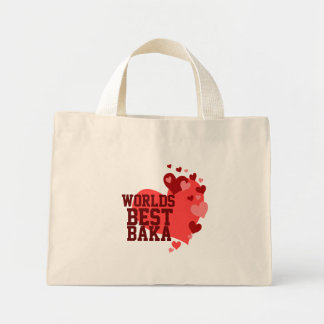 Worlds Best Baka Personalized Mini Tote Bag