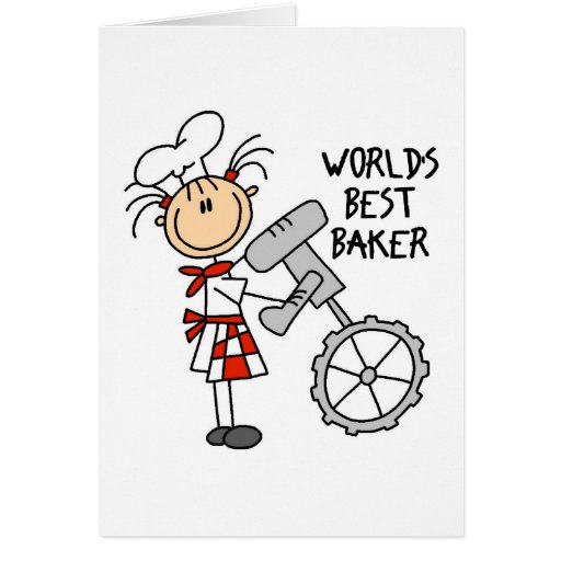 Worlds Best Baker Gifts Greeting Cards
