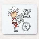 Worlds Best Baker Gifts Mousepad