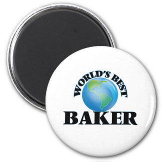 World's Best Baker Magnet