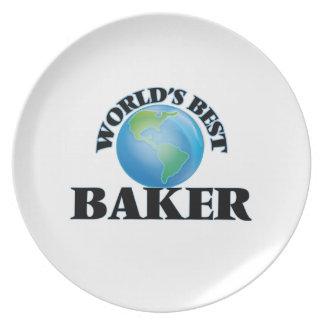World's Best Baker Dinner Plates