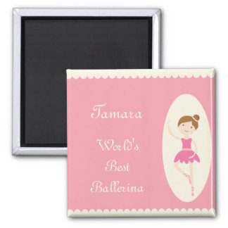 World's Best Ballerina Pink Magnet