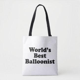 World's Best Balloonist Tote Bag