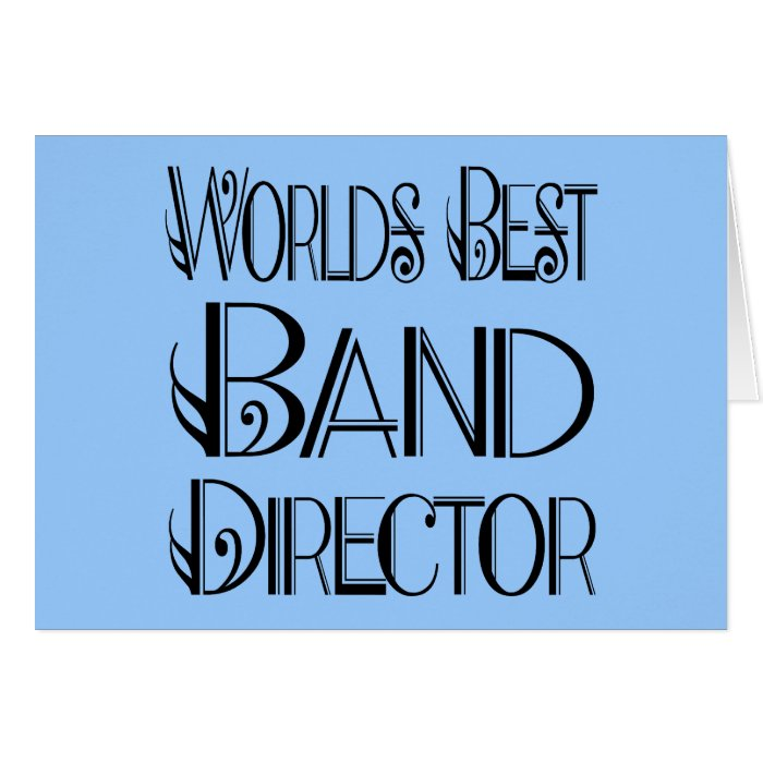 World's Best Band Director Card