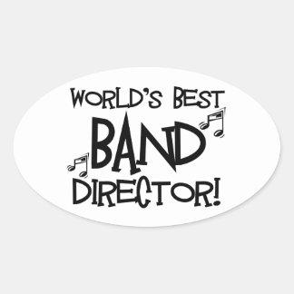 World's Best Band Director Oval Sticker