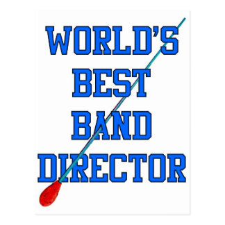 World's Best Band Director Postcard
