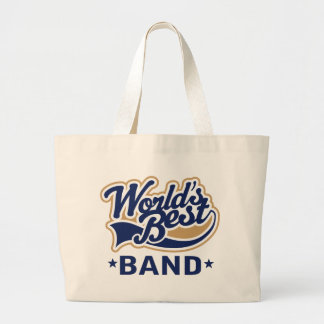 World's Best Band Music Gift Large Tote Bag