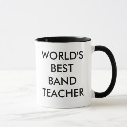 WORLD'S BEST BAND TEACHER MUG