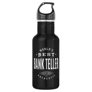 World's Best Bank Teller Water Bottle
