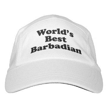 Beach Themed World's Best Barbadian Hat