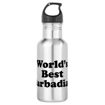World's Best Barbadian Stainless Steel Water Bottle