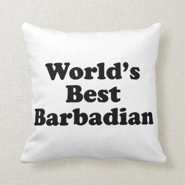 Beach Themed World's Best Barbadian Throw Pillow