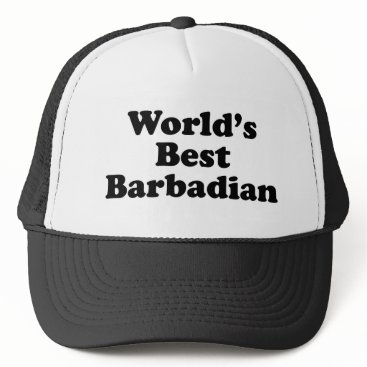 Beach Themed World's Best Barbadian Trucker Hat