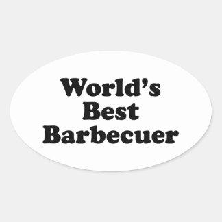 World's Best Barbecuer Oval Sticker